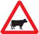 cow warning logo